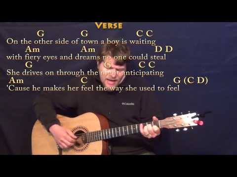 Lyin' Eyes (Eagles) Fingerstyle Guitar Cover Lesson with Chords/Lyrics