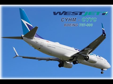 WestJet Airlines Full Flight | Hamilton (CYHM) to Calgary (CYYC) | Boeing 737-800