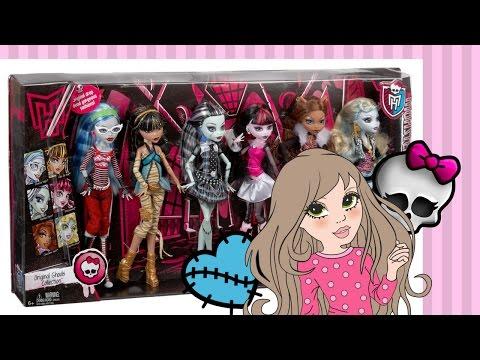 Купила сразу 6 базовых кукол Монстер Хай.