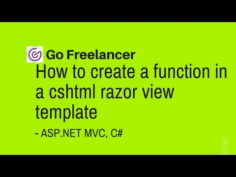 How To Create A Function In A Cshtml Razor View Template Asp Net Mvc