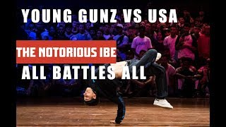 YOUNG GUNZ VS TEAM USA  | ALL BATTLES ALL 2018 | THE NOTORIOUS IBE 2018