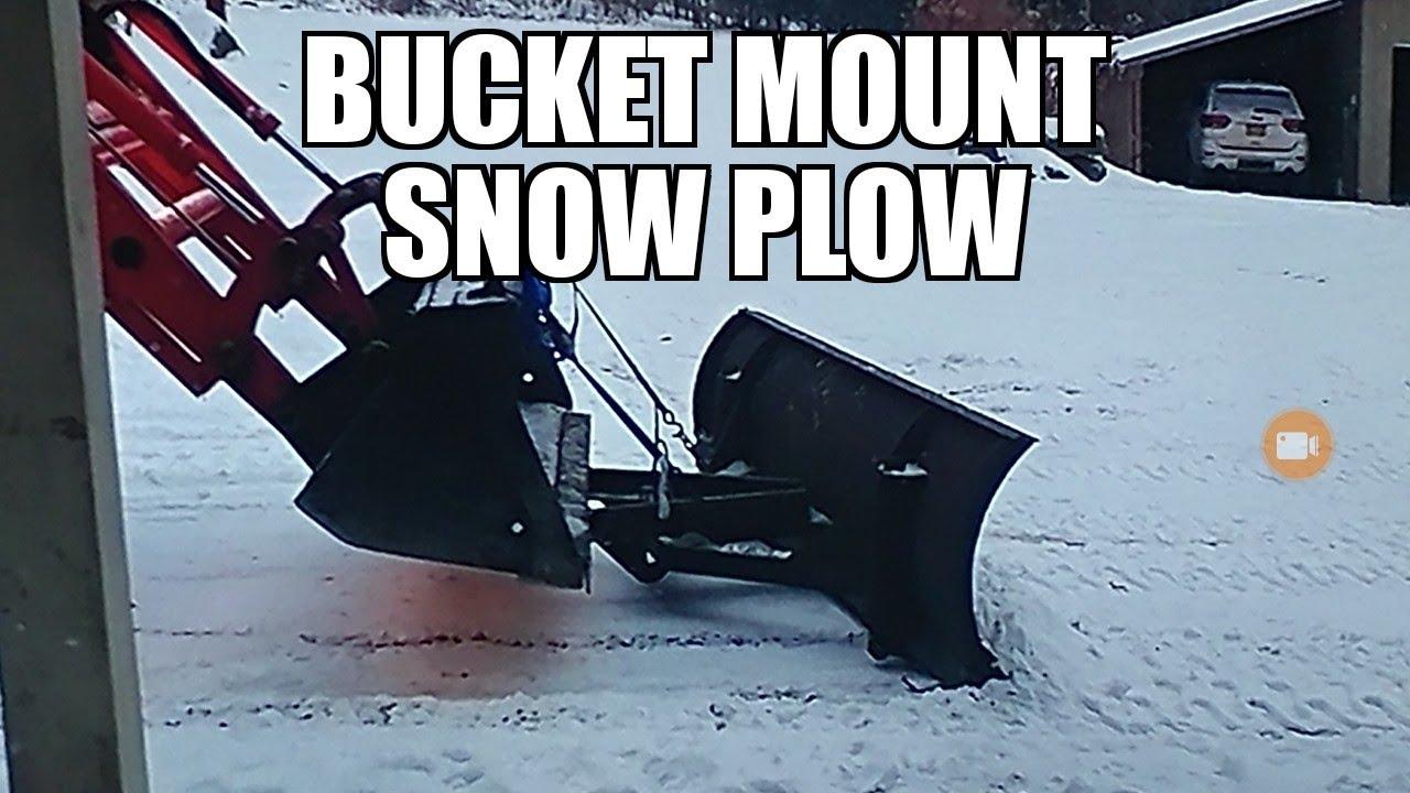 Tractor Snow Plow >> kioti tractor loader bucket mount show plow and snowblower. - YouTube