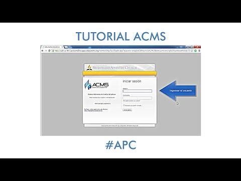 ACMS - Tutorial