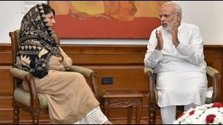 Mehbooba Mufti Meets PM Modi to Discuss Kashmir Unrest