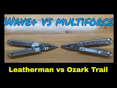 Leatherman Wave+ Vs Ozark Trail Multiforce