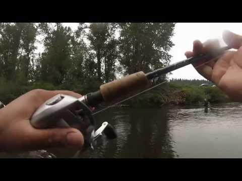 Salmon Fishing Green River in Auburn, Wa. 2013