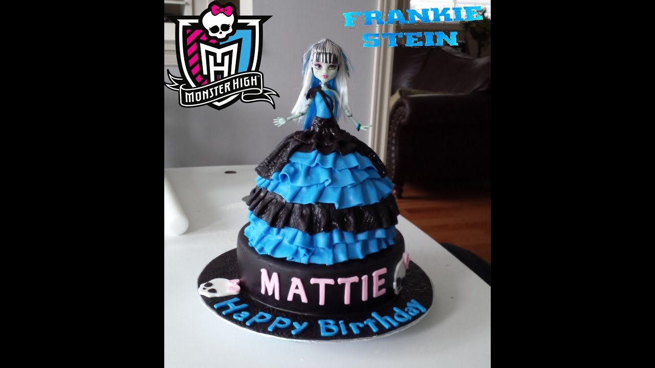 Frankie Stein Monster High Doll Birthday Cake 2014 YouTube