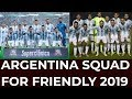 Argentina squad  for friendly 2019(Argentina)