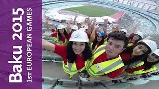 On/off video of Baku 2015 volunteers   Baku 2015