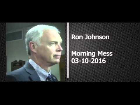 Dumb Ron Johnson Admits Justice Delay Political