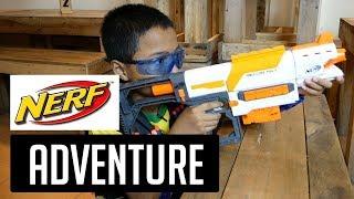 NERF ADVENTURE - PETUALANGAN NERF - Permainan Anak Bermain Tembak Tembakan anak kecil Battle Indo
