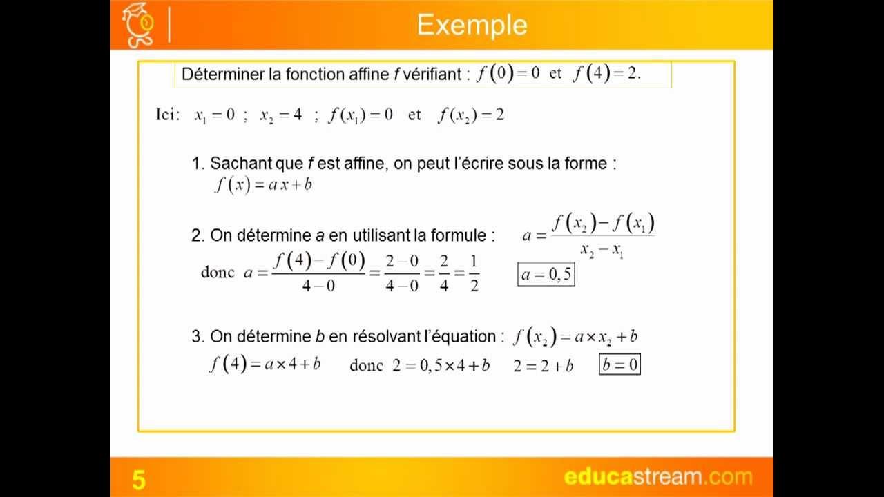 fonctions affines caractérisation cours maths seconde - YouTube