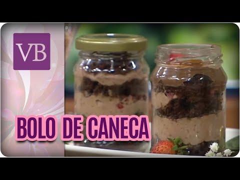 Bolo de Chocolate com Morango na caneca - Você Bonita (14/07/16)