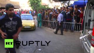 State of Palestine: Gaza market victims rushed to hospital after deadly Israeli airstrike *GRAPHIC*