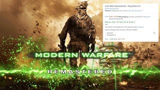 CALL OF DUTY MODERN WARFARE 2 REMASTERED RELEASE DATE? COMING NEXT MONTH....