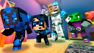 Who's Your Daddy! Baby Titans Blow Up a HOUSE! Minecraft Baby Roleplay