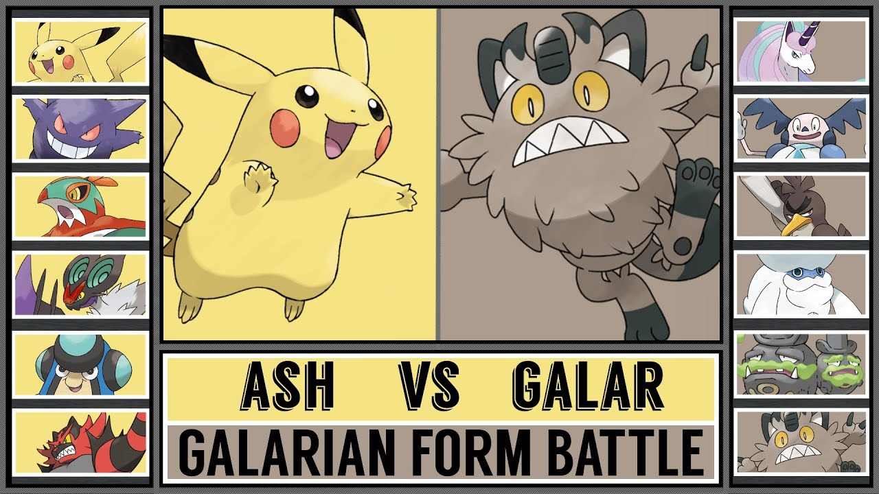 ASH vs GALAR POKÉMON - Pokémon Sword/Shield