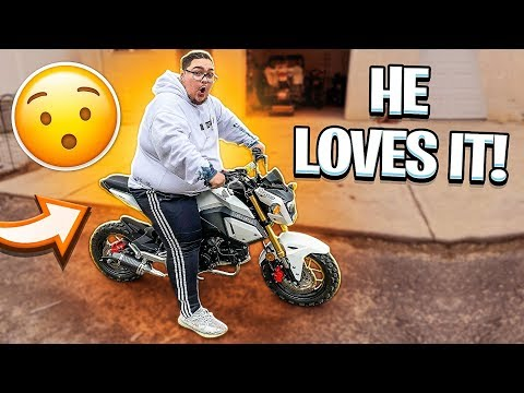 KID RIDES HONDA GROM WITH NEW EXHAUST FOR THE FIRST TIME ! (MUST WATCH) | BRAAP VLOGS