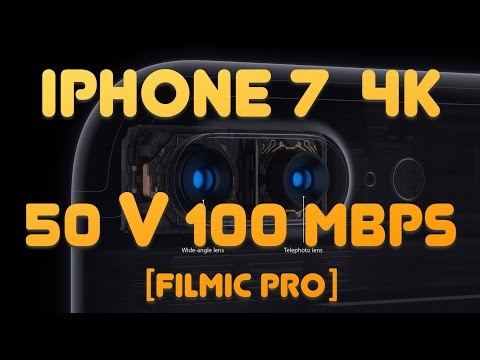 iPhone 7 4k recording at 50 Mbps vs 100 Mbps with FiLMiC Pro