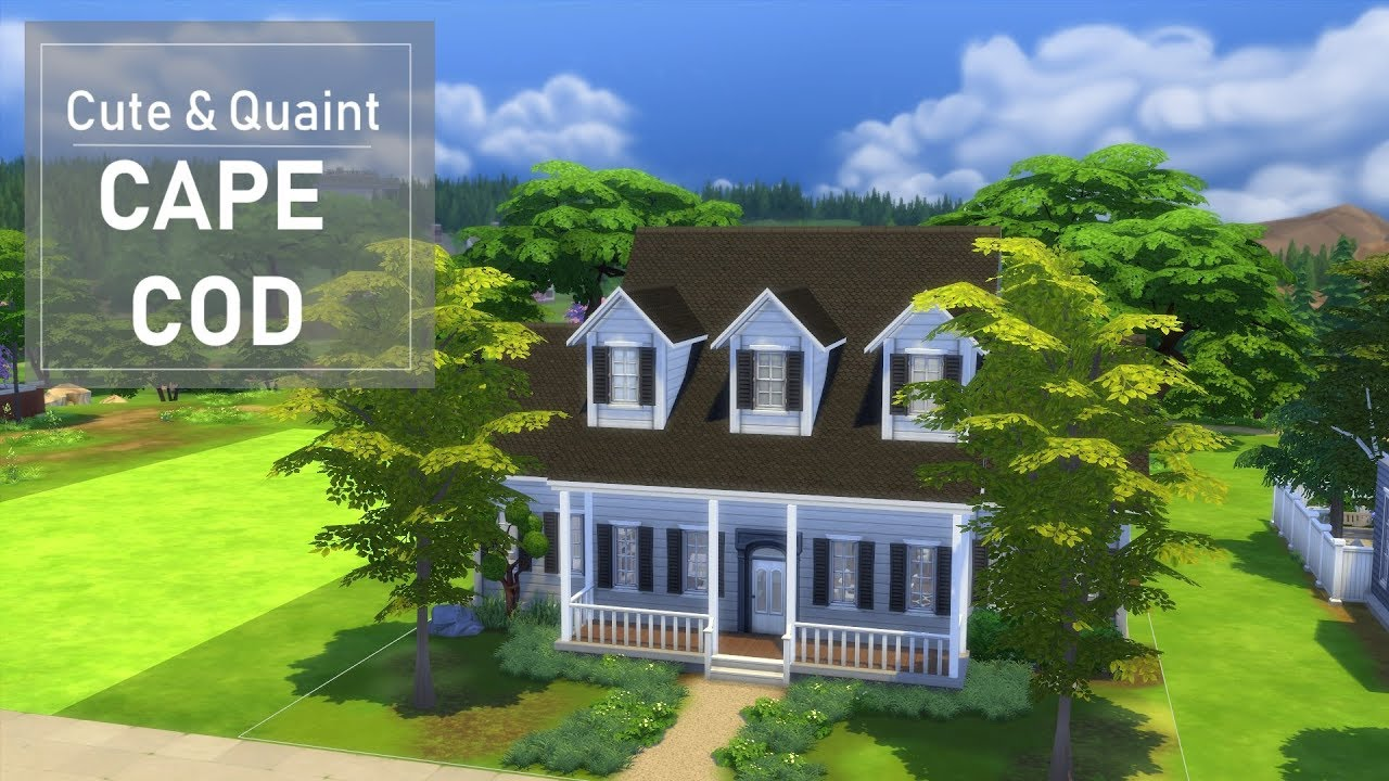 building a cape cod style house the sims 4 youtube