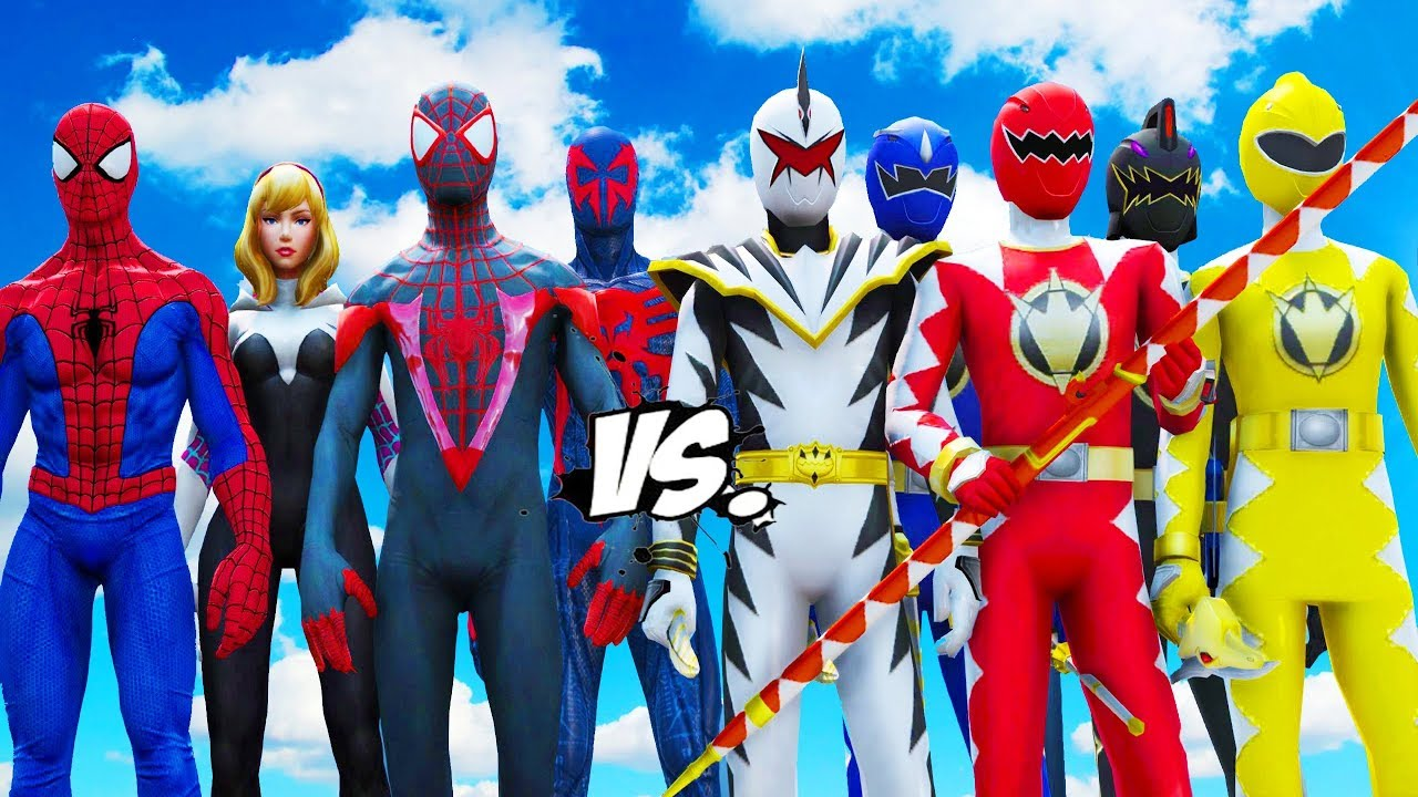SPIDER-VERSE VS POWER RANGERS (Dino Thunder)
