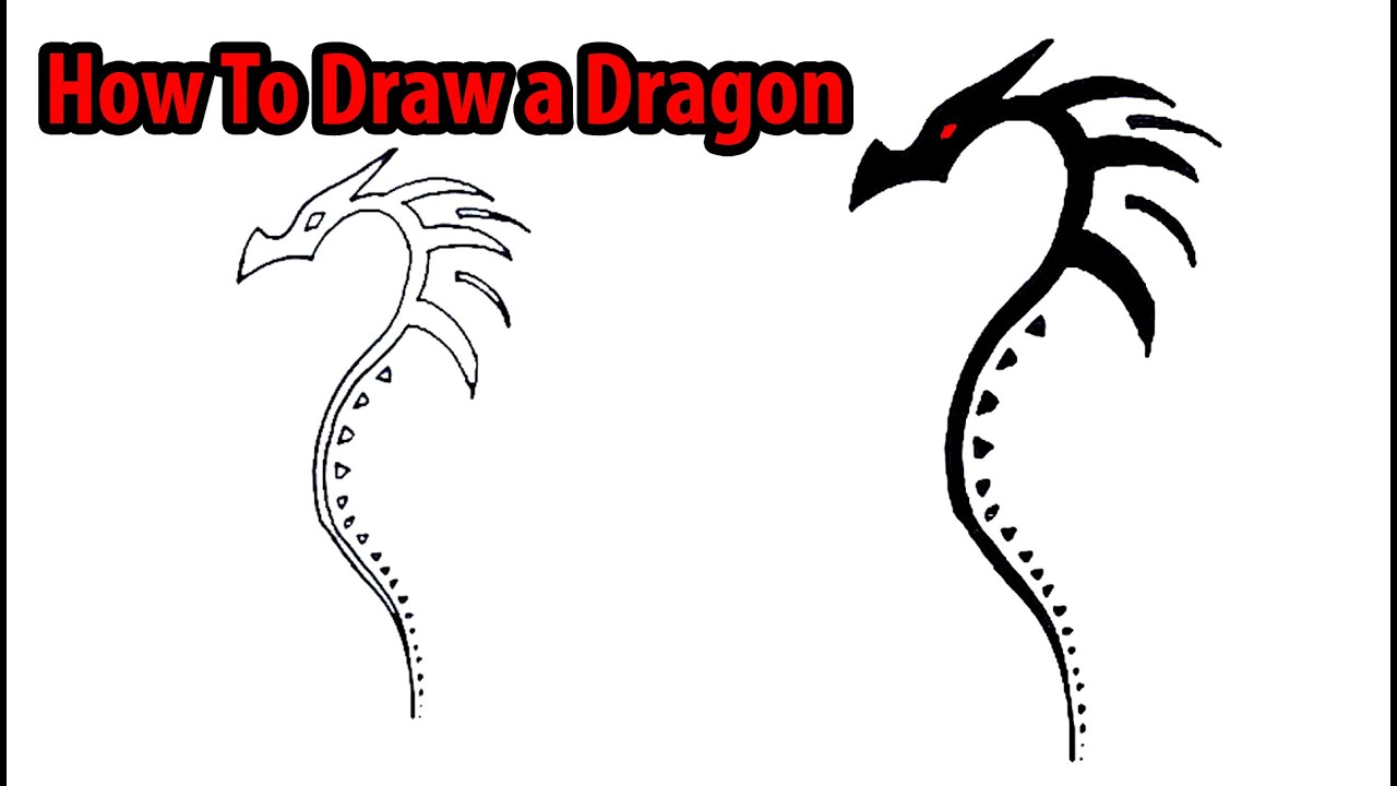 Uncategorized Dragon To Draw how to draw a dragon youtube