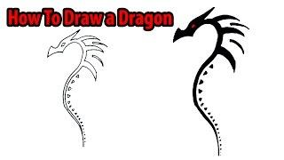dragon easy draw step dragons drawing beginners tattoo simple tribal designs pencil eye deviantart