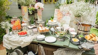 How To - Maria Provenzano's DIY Boho Buffet Table - Hallmark Channel