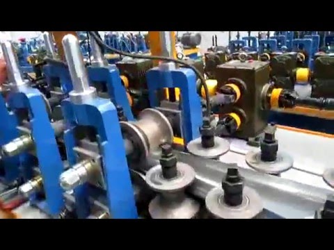 Stainless steel / iron / carbon steel Industrial pipe production line