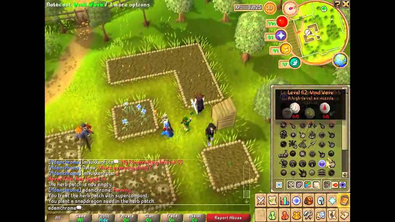 Runescape Farming Guide - Allotments [HD] - YouTube