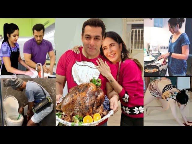 Bollywood Celebrities Housework Like Cooking, Washing Dishes & Other-Salman,Kajol,Katrina