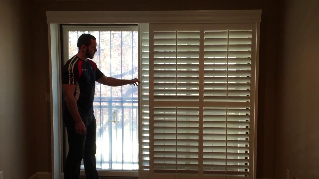 sliding door shutters open louvers - youtube