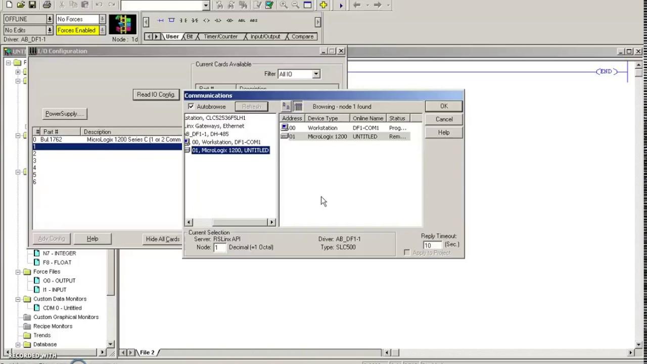 PLC Tutorial (Allen Bradley RS Logix) #1 (Setting up RSLinx & IO  Configuration)
