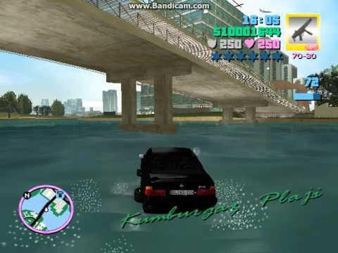 araba ile suda yuzme modu ilk