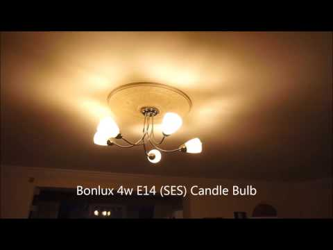 Bonlux 5-Pack 4W E14 SES LED Dimmable Filament Bulbs