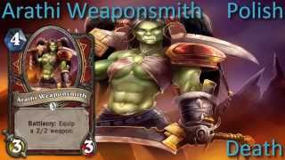 Arathi Weaponsmith card sounds in 12 languages -Hearthstone✔