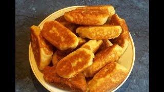 #Пирожки жареные  с рисом и яйцами. #Видеорецепт.