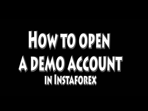 How to open a forex demo account in InstaForex