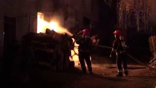 Pożar budynku gospodarczego w Szubinie
