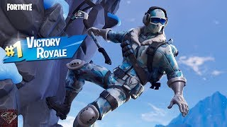 Getting A Victory Royale With The Frostbite Skin (Fortnite Battle Royale)