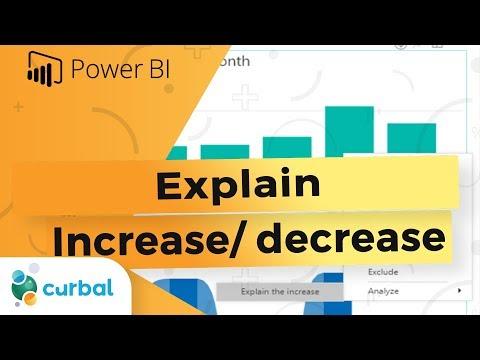 Explain the increase decrease ML algorithm in Power BI