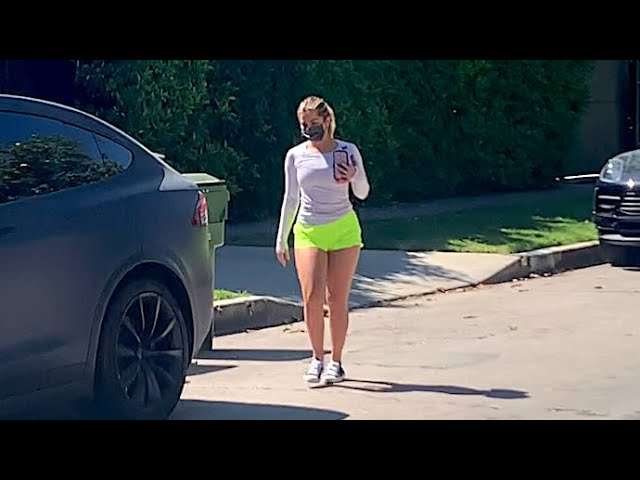 Addison Rae Looks Electric In Neon Green Shorts For Morning Workout