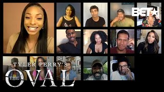 The Cast of 'Tyler Perry's The Oval' Chat with Jamila Mustafa | #TheOvalOnBET