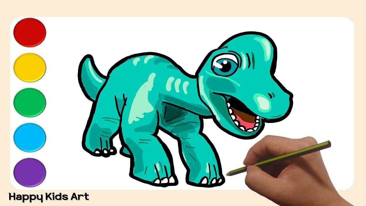 공룡 메카드 넓은 마음의 브라키오 그림 그리기 색칠 놀이 타이니소어 Drawing Brachio From From Dino Mecard Tiny Saur