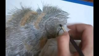 Уроки рисования #3 часть 1 Рисунок акварелью Рисуем забавного котика