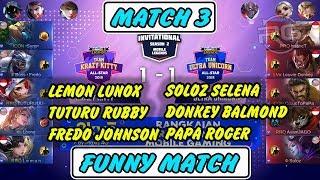 SUPER EPIC COMEBACK !!! Krazy Kitty vs Ultra Unicorn MATCH 3 MSL Season 2 MLBB