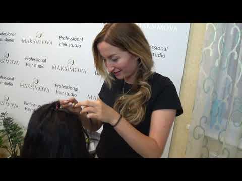 Наращивание волос на стрижку с поврежденными волосами/Очень тонкая работа