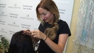 Наращивание волос на стрижку с поврежденными волосами Очень тонкая работа