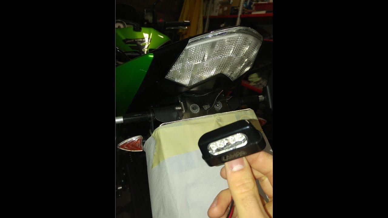 Tutorial come installare luce portatarga led su una moto youtube