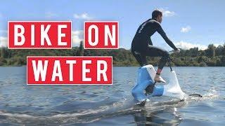 Bike On Water With The Manta 5 Hydrofoil Bike